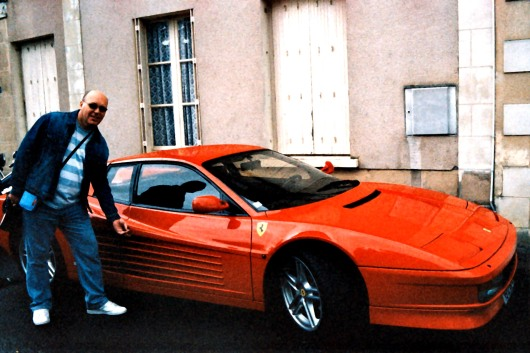 The author and his, well ok not his actually, just some random Ferrari!