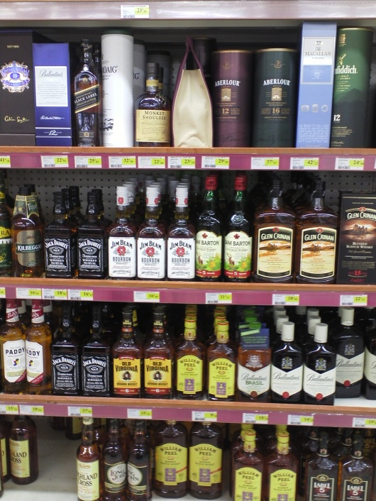 Whisky in a french supermarket -and this was only one section!
