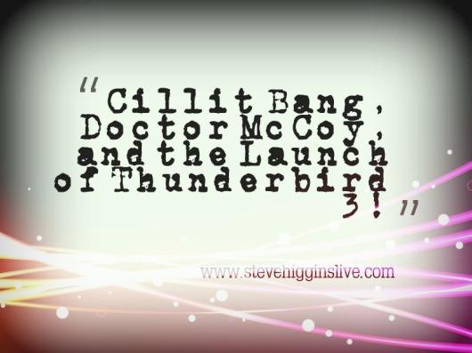 cillit bang, and Dr McCoy