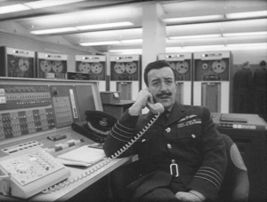 Sellers as Group Captain Mandrake in Dr Strangelove.